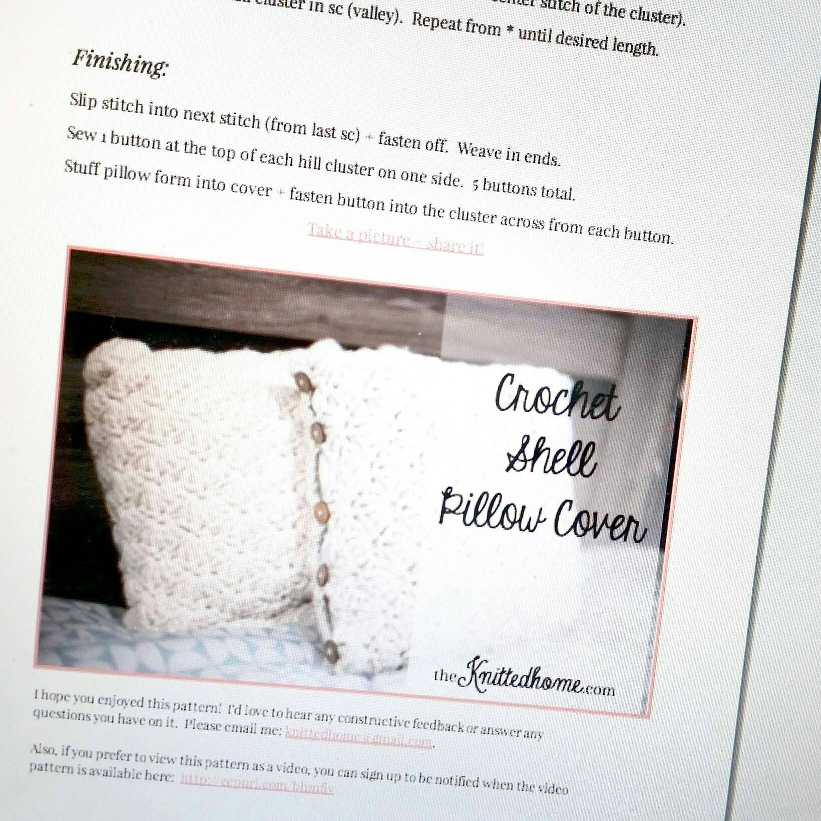 Instant download pattern for chunky crochet shell stitch pillow this is a digital file fandeluxe Gallery