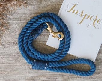 Royal Blue Cotton Rope Leash