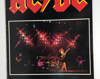 1980-81 | AC DC World Tour Concert Program | vintage