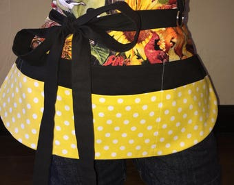 Fall Half Waist Pocket Apron