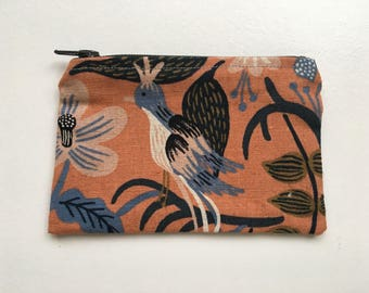 Change Purse, coin pouch, coin purse, wallet, rifle, cotton, steel, canvas, lined