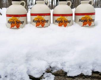 Pure Maple Syrup | Michigan | Grade A Dark, Robust Flavor | 4 Quarts