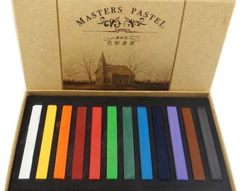 Box of 12 pastel dry color matching