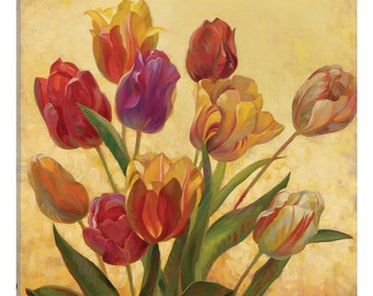 iCanvas Tulip Bouquet Gallery Wrapped Canvas Art Print by Emma Styles