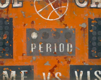 Vintage Orange Basketball Scoreboard Sports Art Canvas By Aaron Christensen Perfect For Players