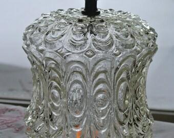 Cut Glass Lamp Shades (2), Antique Clear Glass