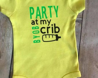 Party at my crib bodysuit
