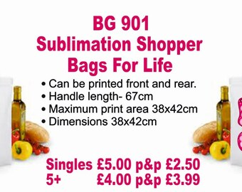 Sublimation Shopper Bags for Life