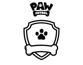 Paw Patrol SVG, paw Patrol logo, clip art in digital format svg, eps, DXF, PNG. For cameo Silhouette, Cricut, cutting file