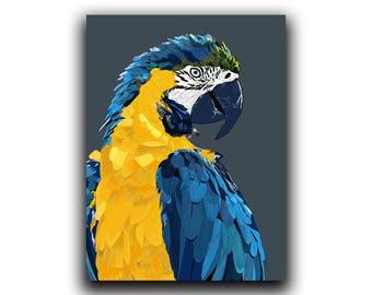 Parrot Print, Bird Wall Art, Macaw Printable Wall Art, Beak Print, Tropical Bird Art, Exotic Parrot Print, Tropical Wall Art, Parrot Poster
