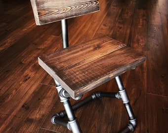 iron pipe furniture. Custom Finishes - Steampunk Pipe Chair/restaurant Chair/industrial Chair/farmhouse Furniture/ Iron Furniture T
