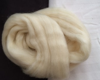 1 Ounce natural white sheep's wool for felting
