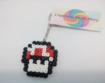 key pixel art in hama beads: small mushroom from Mario