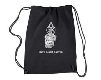 Cinch Backpack Bag-Blue Lives Matter