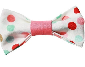 Birthday Dots dog bow|Custom color coordination|Dog bowtie|Polka Dot|Gifts for dogs