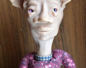 Polymer Clay-Hand Sewn Doll