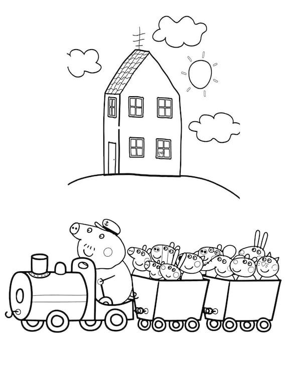 Fantastisch Peppa Pig Malvorlagen Für Kinder Fotos ...