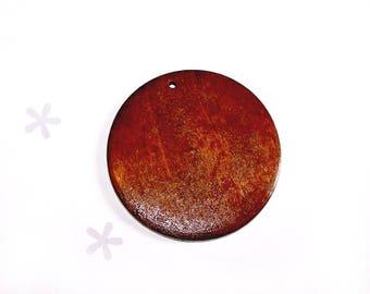 A large blank 59 mm dark brown varnished wood