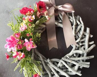 Easter / Springtime Floral Door Wreath