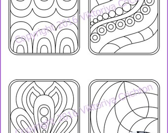 Strings for drawing zentangles_13. Zentangle starter pages. Tangle pattern printable string, PDF.