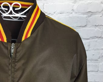 1970's Brown Mod Windbreaker Jacket