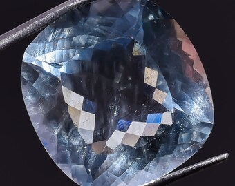24.7 CT. 100% Natural Aquamarine Cushion Cut Loose Gemstone 20X20X11 mm HB-2294