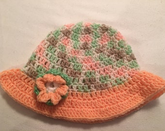 Handmade crochet sun hat for child