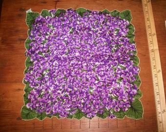 Mouchoir en tissu Violet Vintage