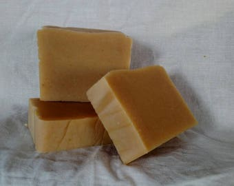 Vetiver and Citrus goat milk bar soap.