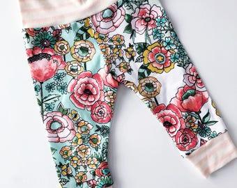 Floral and Stripe Legging / Macie & Me