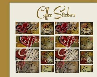 Coffee stickers journal stickers planner stickers scrapbooking coffee art