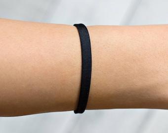 Black Onyx Bracelet, Raw Black Tourmaline Bracelet, Black Bracelet, Black Stretch, Black, Handmade, Onyx Bracelet, Men's Bracelet, Teen Gift