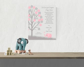 Goddaughter Baptism Gift | Gift from Godmother | Gift from Godparents | Baby Girl Christening Gift | Baptism Poem - 48577