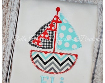 Sailboat with Pennant Bodysuit or Shirt