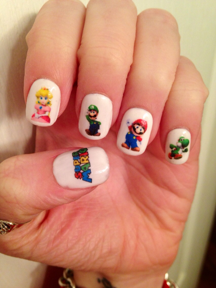Super Mario Nail Decals