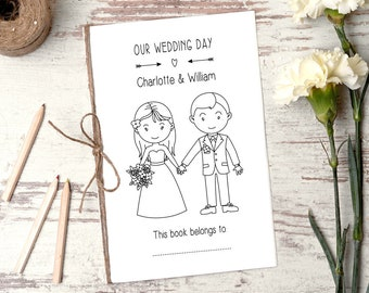 Personalized Wedding Activity Book - Printable Download - Wedding Favors - Wedding Coloring Book - Reception Activities for kids