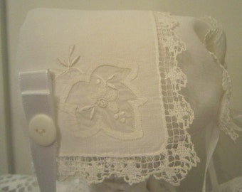 White Handkerchief Bonnet
