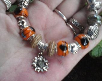 Autumn colors, Euro style bracelet