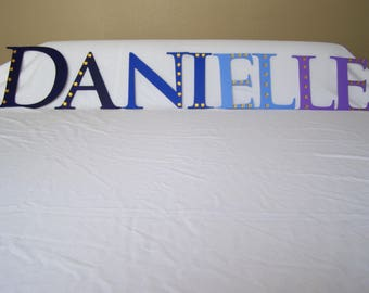 Painted Wooden Letters, Wooden Wall Letters, Wooden Letter Wall Decor, Big Wooden Letters, Wooden Nursery Letters