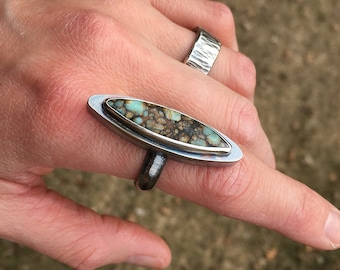 Sterling Silver and Seven Dwarfs Hollow Form Ring - size 7