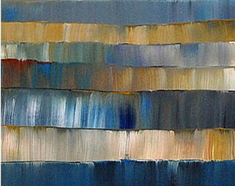 Blue Large Wall Art Home and Living ABSTRACT Painting Large Canvas Artwork By Thomas John