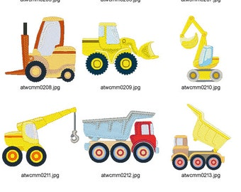Simple-Construction-Vehicles ( 10 Machine Embroidery Designs from ATW )