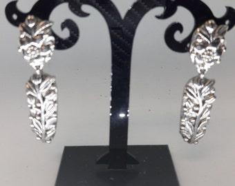 Silver Plated Vintage Pierced Earrings