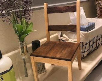 Minimalist style doll chair.