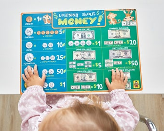 UncleWu Educational About Money For Kids Placemats