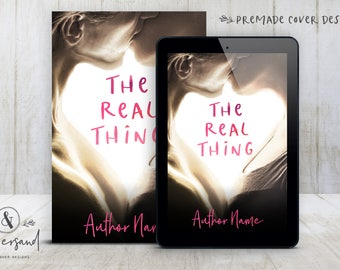 "Premade Digital eBook Book Cover Design ""The Real Thing"" Contemporary Romance Love New Adult Women's Fiction"