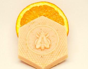 Queen Bee Honey Soap, Orange Lemongrass Soap, Bee Mindful Soap, Honey Oatmeal Orange Lemongrass Soap, Bee Molded Honey Soap