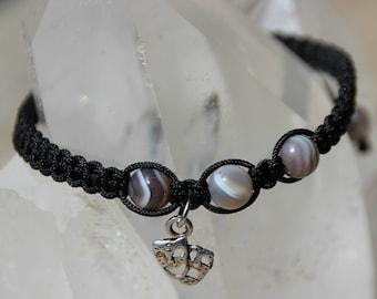 shamballa bracelet with botswana agate bead