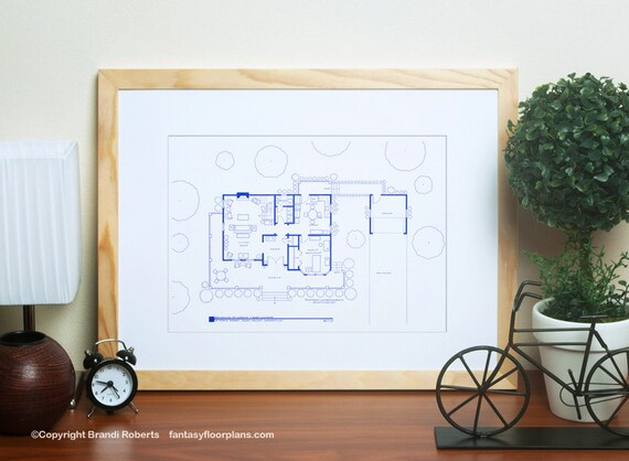 Gilmore girls poster tv show floor plan blueprint art for like this item malvernweather Gallery