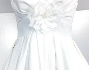 1990s Oleg Cassini for David's Bridal Tulip Wedding Gown (10095CL)